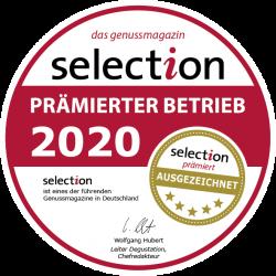 Vom Genussmagazin Selection Prämierter Betrieb 2020!